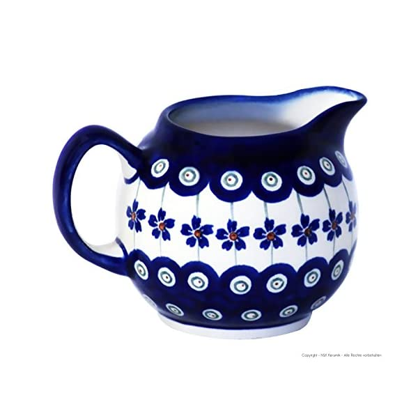 Boleslawiec Pottery Pot à crème – 0,25 L en céramique de Boleslawiec Motif 166a