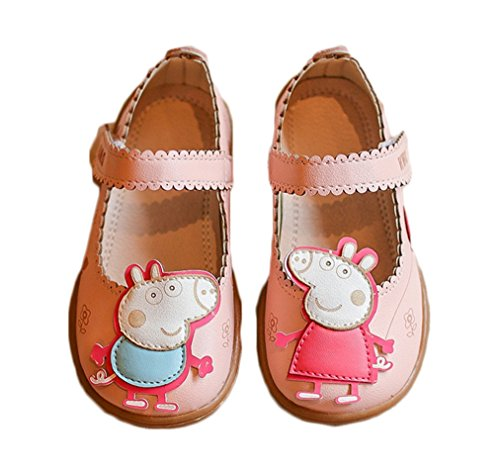 Bakerdani 2017 Style Sweet Princess Flat Casual Shoes Soft Soles with Pink Baby Pig Stick Cute
