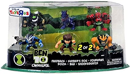 Amazon.com: Ben 10 Omniverse – Super Deformed Figure Set, 6 ...