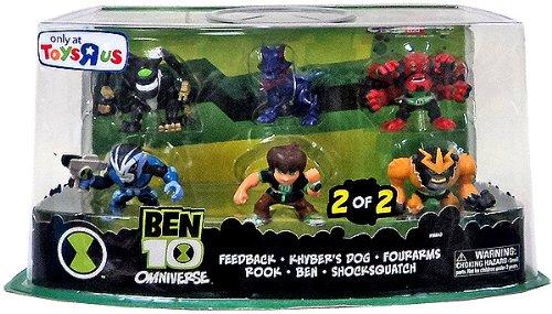 Ben 10 Omniverse Super Deformed Figure Set, 6-Pack (Ben, Rook, Kyber's Dog, Fourarms, Feedback, Shocksquatch)