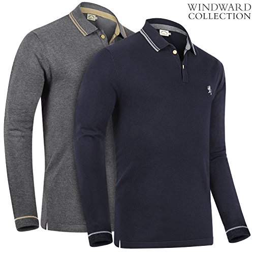 Cashmere Polo - Albert Morris Synthetic Cashmere Wool Polo Shirts (2 Pack, Medium)