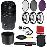 Tamron Auto Focus 70-300mm f/4.0-5.6 Di LD Macro Zoom Lens for Canon Digital SLR Cameras (Model A17E). With 3 Piece Filter Kit, Blower, Lens Hood, Lens Pen, Case, 3 Piece Macro Closeup Kit