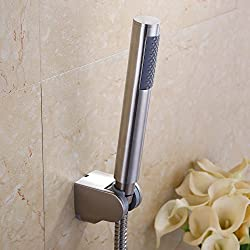 KES LP150 Bathroom Handheld Shower Head with Extra Long Hose and Bracket Holder, Brushed Stainless Steel