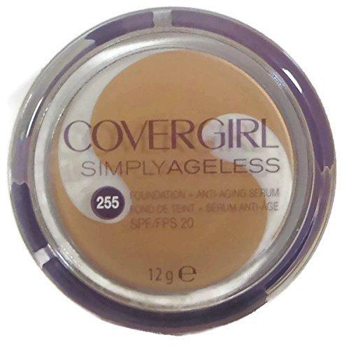 Covergirl Simply Ageless Foundation + Anti-aging Serum, 255 Soft Honey, 12g