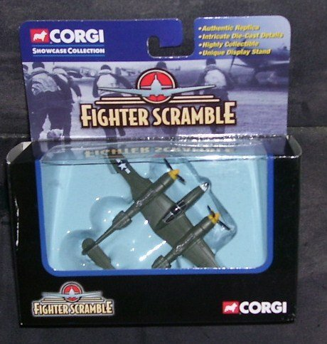 Corgi FIGHTER SCRAMBLE P-38 LIGHTNING GENTLE ANNIE Diecast Military Aircraft 2002 ()