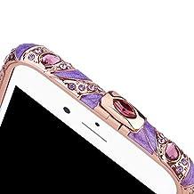 iphone6 Plus Case iPhone 6S Plus Frame Bumper Rose Purple iphone 6s Case glitter Prime For iphone6/6S Plus (Peacock rose purple-6S plus)