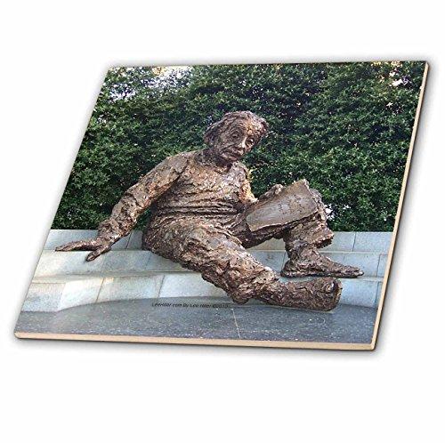 Lee Hiller Photography Washington DC - Albert Einstein Memorial - 4 Inch Ceramic Tile (ct_5014_1)