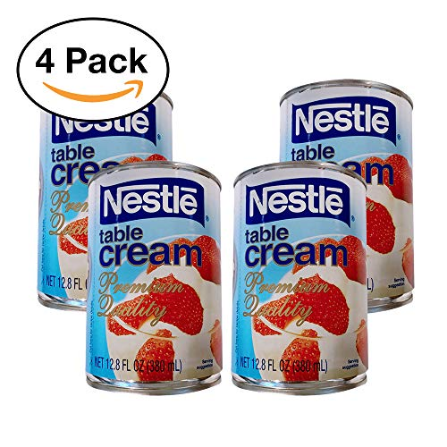 Nestle Table Cream Premium Quality Pack of Four Cansv12.8 Fl Oz a CAN
