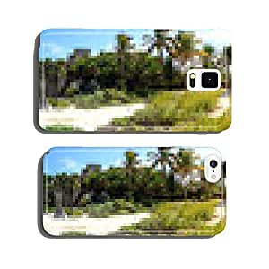 panoramic beach and ruins of Tulum - Mexico cell phone cover case Samsung S5