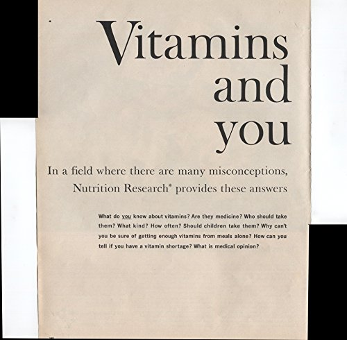 (One A Day Brand Multiple Vitamins Nutrition Research Provides Answers About Vitamins 2 Page 1960 Vintage Antique)