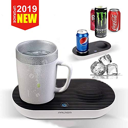 Coffee Mug Warmer, PALTIER Coffee Mug Warmer Electric Desktop Heated and Cooling Coffee Tea Mug Warmer Coffee Mug Cooler and Warmer with Auto Shut-off Powered for Home Office Model (Smart Cup Set)
