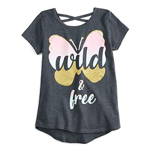 Jumping Beans Little Girls' 4-12 Butterfly Wild Free Tee 7 -
