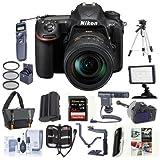 Nikon D500 DX-format DSLR Body with AF-S DX Nikkor 16-80mm f/2.8-4E ED VR Lens Bundle with 64GB SDxC U3 Card, Camera Bag, Tripod, Spare Battery, Remote Shutter Trigger, Video Light, Shotgun Mic, More