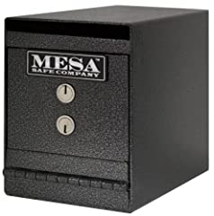 Best seller. Anti-fish baffle. Dual key nose. 4 Pre-drilled anchor holes located on the bottom of safe Dimensions. Outer: 12.75 in. L x 6 in. W x 8 in. H. Inner: 10.5 in. L x 5.38 in. W x 6.25 in. H. Weight: 20 lbs.. Mesas MUC series undercou...