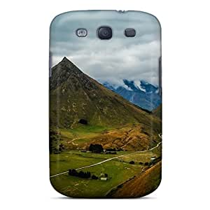 Awesome Road Through Lovey Valley Flip Case With Fashion Design For Galaxy S3