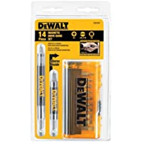 Deals on DEWALT Screwdriver Bit Set, Magnetic Drive Guide 14-Piece