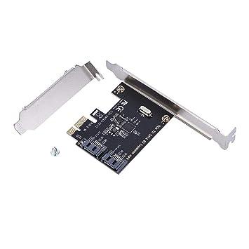 Zerone Tarjetas PCI-E Tarjetas PCI Express a SATA 3.0 Controlador, SATA III Expansión de 2 Puertos a 2 Gbps Tableros convertidores para PC de ...