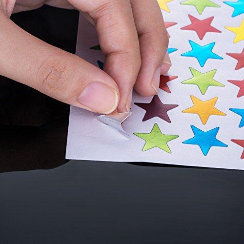 Kenkio 8270 Count Colorful Star Stickers Self-adhesive Stickers Stars Labels Photo #2