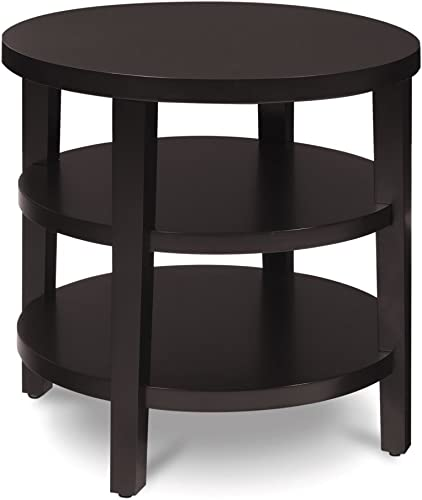 OSP Home Furnishings Merge Round End Table