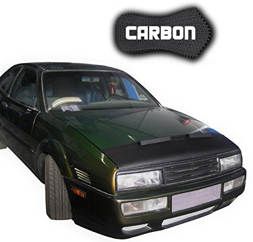 Corrado Carbon (Hood Bra VW Corrado CARBON Bonnet Car Bra Front End Cover Nose Mask Stoneguard Protector TUNING)