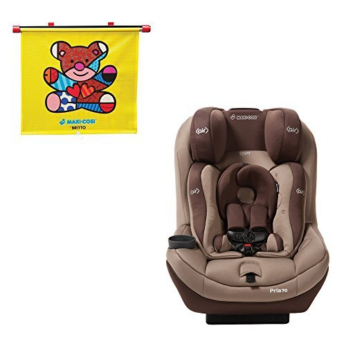 Maxi Cosi Pria 70 Convertible Car Seat Walnut Brown With Tiny Fit And Britto Bear Sunshade Model Newborn Child Infant