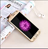 BRAND FUSON iPaky Premium Full 360 Degree Protection Front & Back Slim Fit Case Cover With Screen Protector Tempered Glass For Samsung Galaxy J1 4G GOLD