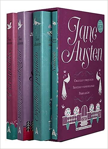 Estuche - Jane Austen: mejores títulos + notebook Pack Clásicos ...