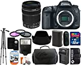 Cheap Canon EOS 7D Mark II 20.2MP CMOS Digital SLR Camera Body with 18-135mm IS STM Lens + 32GB Card + Case + Tripod + Spare Battery and Charger + Flash + Lens Hood + Digital Camera Accessory Bundle