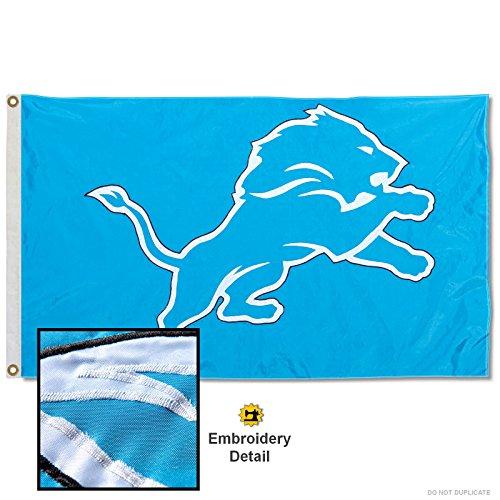 Detroit Lions Applique - Wincraft Detroit Lions Embroidered Nylon Flag