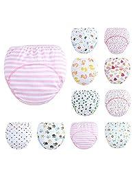 YANN 10 PCS Baby Training Pants Boys Girls Toddler Toilet Pee Potty Training Pants Cotton Diaper Underwear