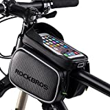 ROCKBROS Bike Frame Bag Waterproof Bicycle Front Top Tube Mount Holder Pouch For 5.8&6.2 inches Cell Phones
