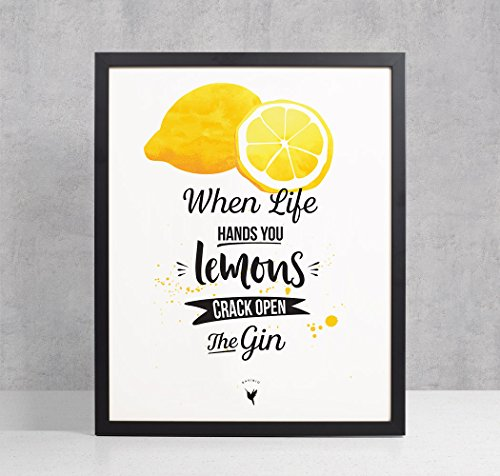 When Life Gives You Lemons | Motivational - Artisanal Giclée Art Print [unframed] (Tequila Squirt)