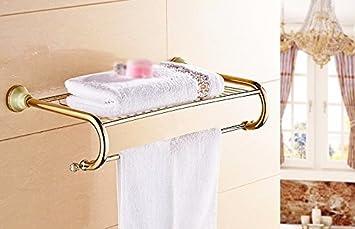 GBHNJ Toallas De Baño Baño De Piedra Jade Color Oro Cristal: Amazon.es: Hogar
