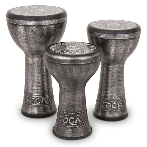 Toca SJDKF-10S Jamal 10-Inch Doumbek - Antique Silver Finish by Toca