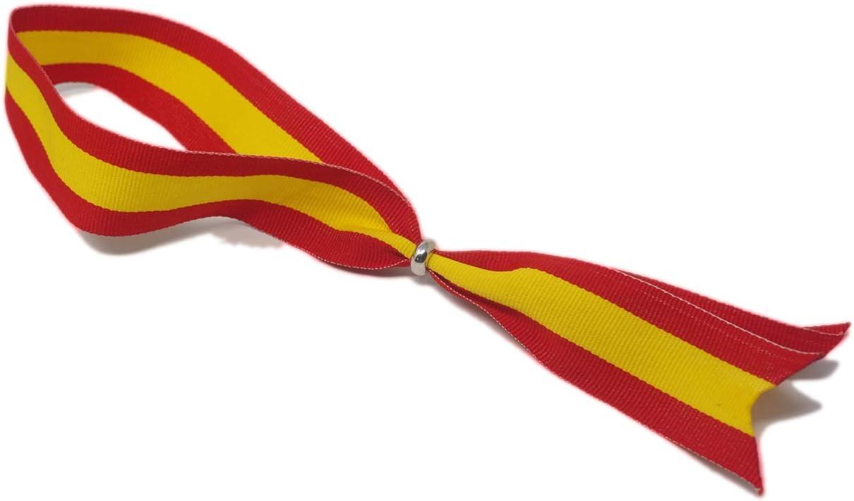 Colores Amarillo y Rojo GOS Best Supplies Cinta para Colgar en el Retrovisor del Coche Colores de la Bandera de Espa/ña