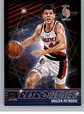 004bae3009d 2018-19 Donruss Retro Series  30 Drazen Petrovic Portland Trail Blazers  Basketball Card