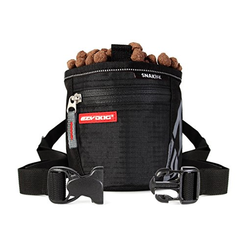 ezydog-snakpak-wearable-dog-treat-bag-training-pouch-with-belt-black