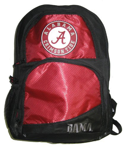 NCAA Alabama Crimson Tide High End Backpack, One Size, Red by Forever Collectibles