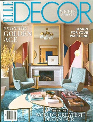 Elle Decor Magazine - (FREE SHIPPING) (FREE SHIPPING) Elle Decor Magazine May 2018