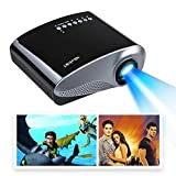 Mira-Tech 2.4Inch Portable Mini Projector 16:9 4:3 50,000 hours, 1000:1 Contrast with Max 1920*1080 Native 480*320 Resolution 60Lumen Multimedia LED Projector (Black)