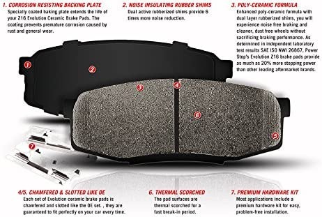 Z17 Front Ceramic Brake Pads with Hardware Power Stop 17-1774