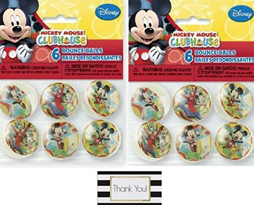 [Mickey Mouse Clubhouse Bouncy Ball Party Favors, 6ct Two Pack - 12 Bouncy Balls by BT] (Bouncy Ball Costume)
