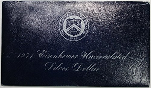 Dollar 1971 Eisenhower - 1971 S Eisenhower Ike Dollar in Blue Envelope $1 BU