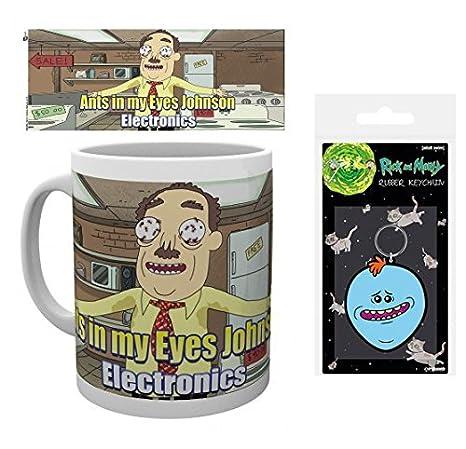 Set: Rick Y Morty, Hormigas En Los Ojos Johnson Taza Foto ...