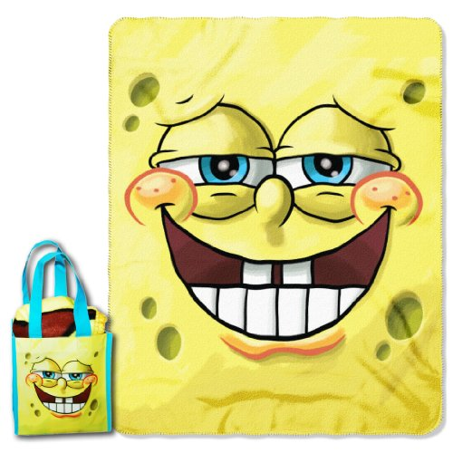"SpongeBob SquarePants ""Grinning Bob"" Micro Raschel Throw ..."