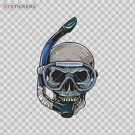 Scuba Skull Vinyl Sticker Waterproof Decal