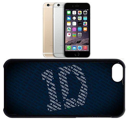 Cas de l'iPhone 6. Plastique noir avec High Gloss Imprime Inserer - 1D- One Direction logo