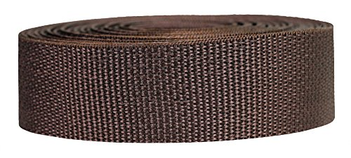 Strapworks Lightweight Polypropylene Webbing - Poly Strapping Outdoor DIY Gear Repair, Pet Collars – 1.5 Inch x 10 Yards, Brown