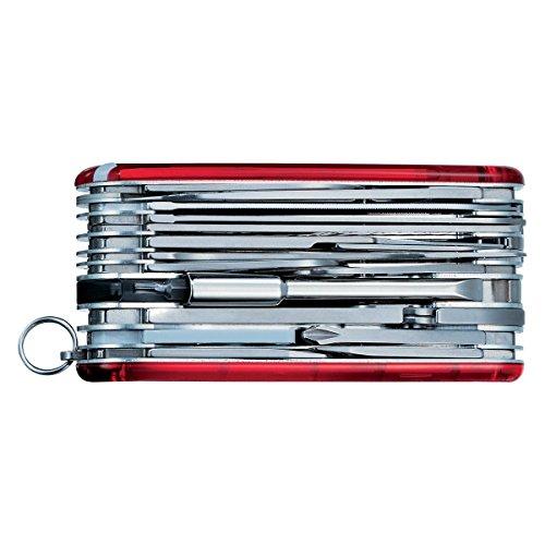 Victorinox Swiss Army Multi-Tool, SwissChamp XLT Pocket Knife, Ruby,91mm