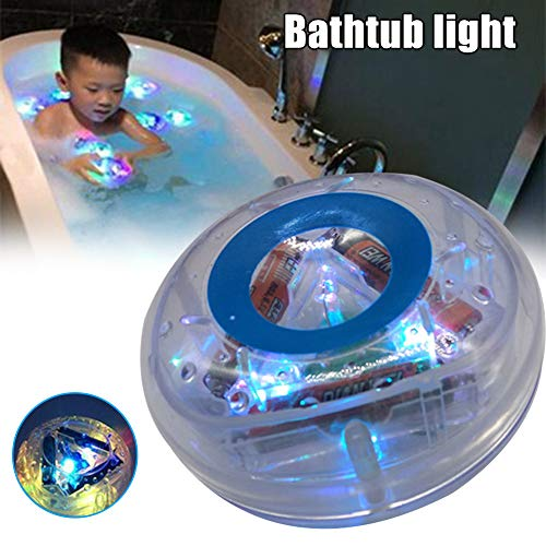 Liamostee Light-up Colorful Bathing Toy Floating Durable Safe Bathtub Light Toy for Baby Kids